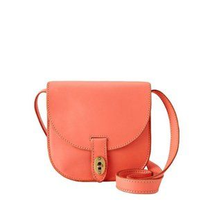 Fossil Austin Small Flap Crossbody Bag Hot Coral
